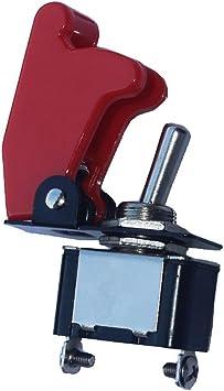 Mintice Kfz Rote Kippschalter Schalter Wippschalter 12v 250v Dc Led Spst 2 Polig Metall Auto