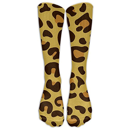 Ball Skins Leopard (FUNINDIY Leopard Skin Compression Socks Soccer Socks High Socks Long Socks For Running,Medical,Athletic,Edema,Diabetic,Varicose Veins,Travel,Pregnancy,Shin Splints,Nursing.)