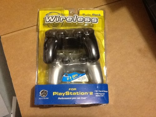 Pelican Wireless controllers Twin Pack PS2