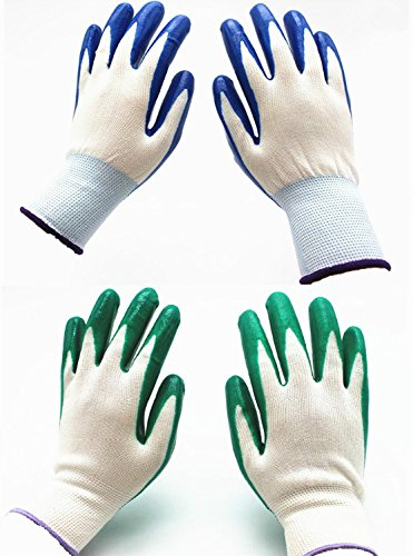 7 Pairs Pack SKYTREE Gardening Gloves, Work Gloves, Comfort Flex Coated, Breathable Nylon Shell, Nitrile Coating, Women