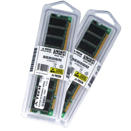 256MB Kit (128MB x 2) SDRAM PC100 Desktop Memory Module (168-pin DIMM, 100MHz) Genuine A-Tech Brand