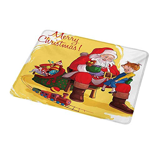 Personalized Custom Gaming Mouse Pad Christmas,Little Child Sitting on Santa Knee with Gifts Doll and Toy Train Kids Design,Personalized Design Non-Slip Rubber Mouse pad ()