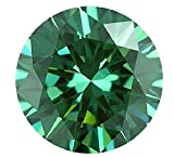 Aryas creation USA SELLER Moissanite Diamond, Loose Round Genuine Tested Moissanite, brilliant cut, green -blue color 0.5ct to 10ct