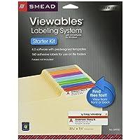 Smead Viewables Labeling System, Starter Pack, File Folder Labels, Ink-Jet and Laser Printers  (64920)