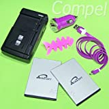 Best OEM Accessory Power Usb Rechargeable Batteries - 6 Accessory Bundle High Power 2010mAh Rechargeable Acesoft Review
