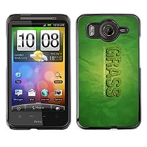 TopCaseStore / la caja del caucho duro de la cubierta de protección de la piel - Grass Greener Other Side Quote Funny Weed - HTC G10