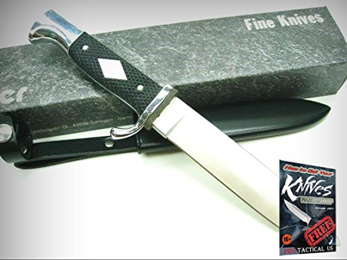 LINDER Black Handle Drop Forged PATHFINDER Full Tang Knife + Sheath! LD193214 + free eBook by ProTactical'US