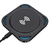 Wireless Charger, Amuoc 10W Fast Qi Wireless Charging Pad, 7.5W Compatible with iPhone 11/11 Pro/11 Pro Max/XS MAX/XR/XS/X/8 Plus/8, Galaxy Note 10 Plus/10/S10/S10 Plus/S10E(No AC Adapter)