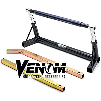 Venom Adjustable Motorcycle Pivot Center Lift Bar Stand For Harley Davidson Electra Glide Classic