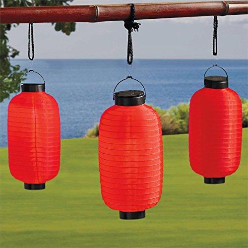 Brylanehome Set Of 4 Solar Hanging Lanterns