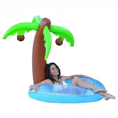 YRQSWA Anillo de natación Árbol de Coco Piscina Hinchable Fiesta ...