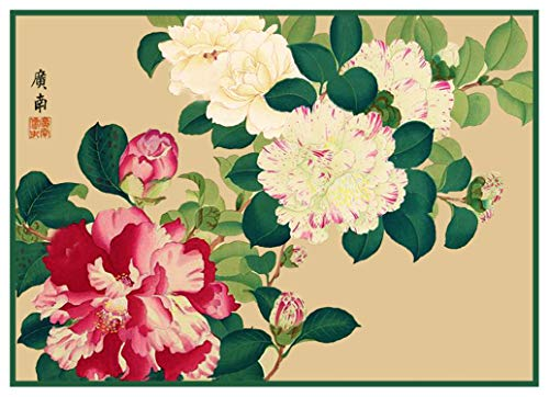 - Orenco Originals Tanigami Konan Asian Camelia Flowers Counted Cross Stitch Pattern