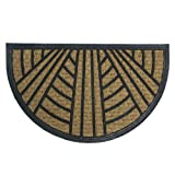 """Rubber-Cal 10-102-521 """"It's Good To Be Home"""" Outdoor Rubber Coir - 18"""" x 30"""" Half Round"""