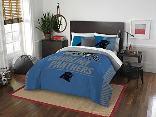 NFL Carolina Panthers Draft Full/Queen Comforter and 2 Sham Set]()