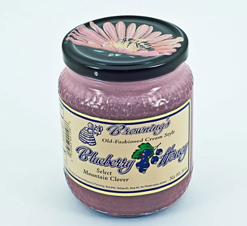 - 16oz Gift Jar Old-fashioned Creamed Style Blueberry Honey