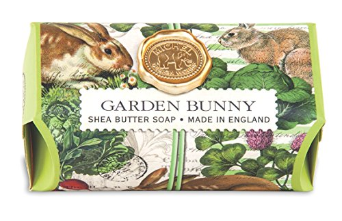 Michel Design Works Oversized Triple Milled Bath Soap Bar, Large, Garden Bunny, 8.7 Ounce - Michelles Designs