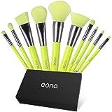 Eono by Amazon - Brochas de Maquillaje Set 10 Unids Profesional Base de Cara Sombra de Ojos Delineador de ojos Resaltador Kits de pinceles de maquillaje
