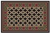 Guardian MLL-44030521 DECOR Designs Elegant Decorative Indoor Floor Mat, 3' x 5', Black