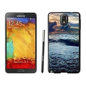 Beautiful Unique Designed Samsung Galaxy Note 3 N900A N900V N900P N900T Phone Case With Stormy Sea Waves_Black Phone Case
