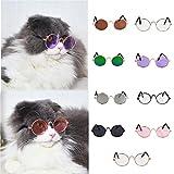 Pet Cat Dog Sunglasses The New Sunglasses UV Sun Glasses Eye Protection Wear Fashion and Comfortable Dog/Cat Glasses (Black A)