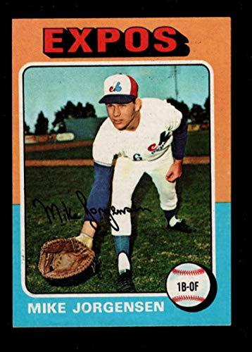 Baseball MLB 1975 Topps Mini #286 Mike Jorgensen Expos