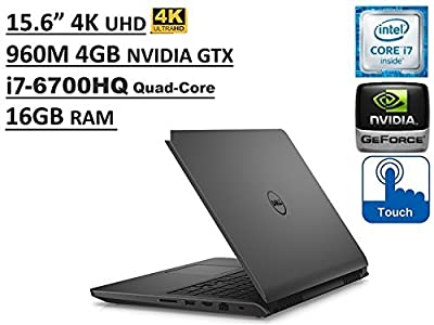 "Dell Inspiron 7000 i7559 15.6"" UHD (3840x2160) 4K TouchScreen Gaming Laptop (Intel Quad-Core i7-6700HQ 3.5GHz, 16GB RAM, NVIDIA GTX 960M 4GB, 1TB+8GB Hybrid SSHD, Backlit, Windows 10)"
