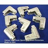 Vulcan Aluminum Heat Shield 90° Spark Plug Boot Protectors 8 Per Pkg
