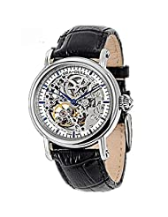 Top Brand Seagull Fully Automatc Self Wind Fashion&casual Men Watches Double Skeleton Black Genuine Leather M182sk by Seagull