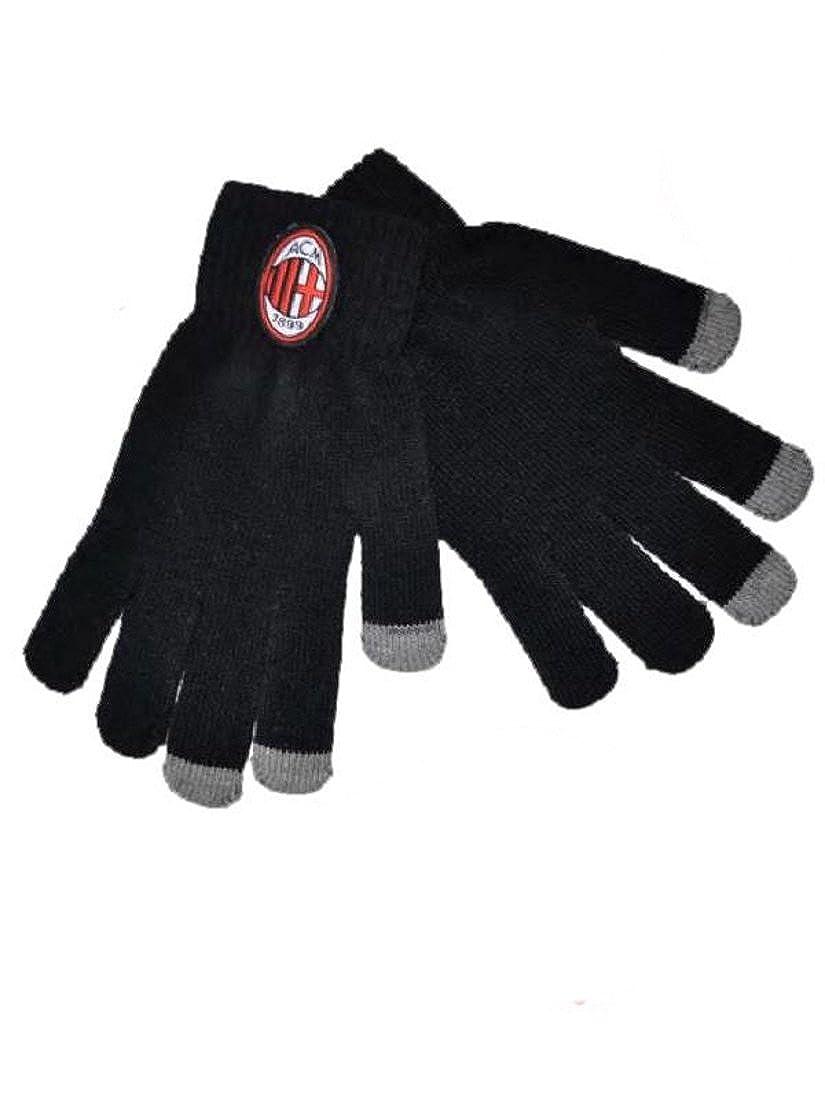 Abbigliamento ufficiale Milan guanti adulto touch screen per cellulare *19061 A.C. Milan