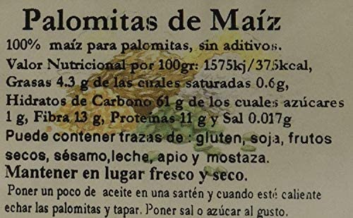 Bionsan Maiz para hacer Palomitas Ecológicas, 500 gr: Amazon ...