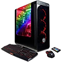 CYBERPOWERPC Gamer Master GMA4000A Desktop Gaming PC (AMD Ryzen 5 1600 3.2GHz, NVIDIA GTX 1060 6GB, 8GB DDR4 RAM, 2TB 7200RPM HDD, Win 10 Home), Black