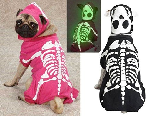 Glow Bones Glow in the Dark Skeleton Dog Halloween Costume AllSizes