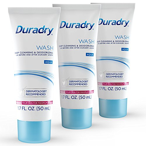 Duradry Wash 50mL Odor Control - Deep Cleansing and Deodorizing. Eliminates Odor Causing Bacteria and Inhibits its Growth. Neutralizes Odors while Nourishing your Skin (3-Pack)
