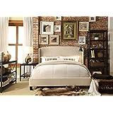 Millbury Home chavelle queen upholstered platform bed, beige