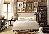 Millbury Home chavelle queen upholstered platform bed, beige