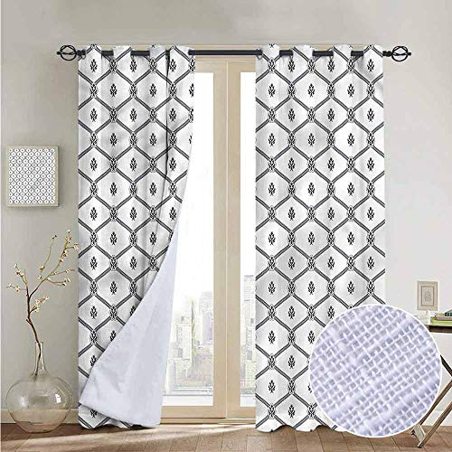- NUOMANAN Window Curtains Geometric,Nautical Logo Pattern,Tie Up Window Drapes Living Room 52