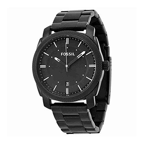 Fossil Men's Machine Quartz Stainless Steel Dress Watch, Color: Black (Model: FS4775)