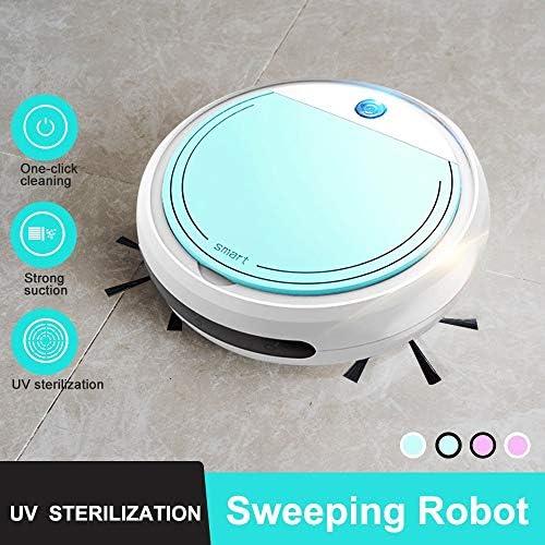 Mdsfe Aspirateur Robot Intelligent Sweep & Wet Mop simultanément pour sols durs et Tapis Fonctionne automatiquement Charge USB 700Pa - Violet Noir
