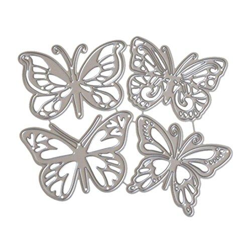 Wakeu Butterfly Metal Cutting Dies DIY Paper Scrapbooking Embossing (01/11.6x10.2CM) ()