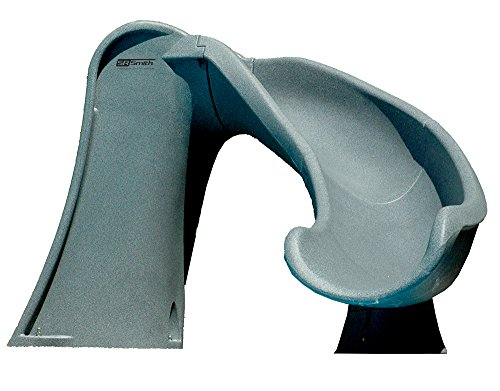 S.R. Smith 698-209-58124 Cyclone Right Curve Pool Slide, Gray Granite