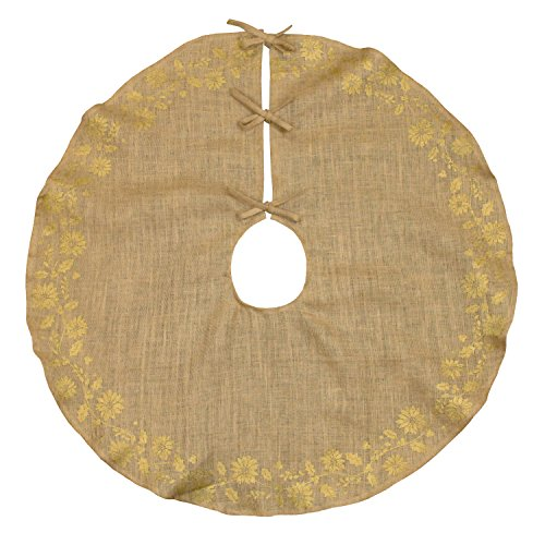 DII 100% Jute, Gold Holly Printed, 47