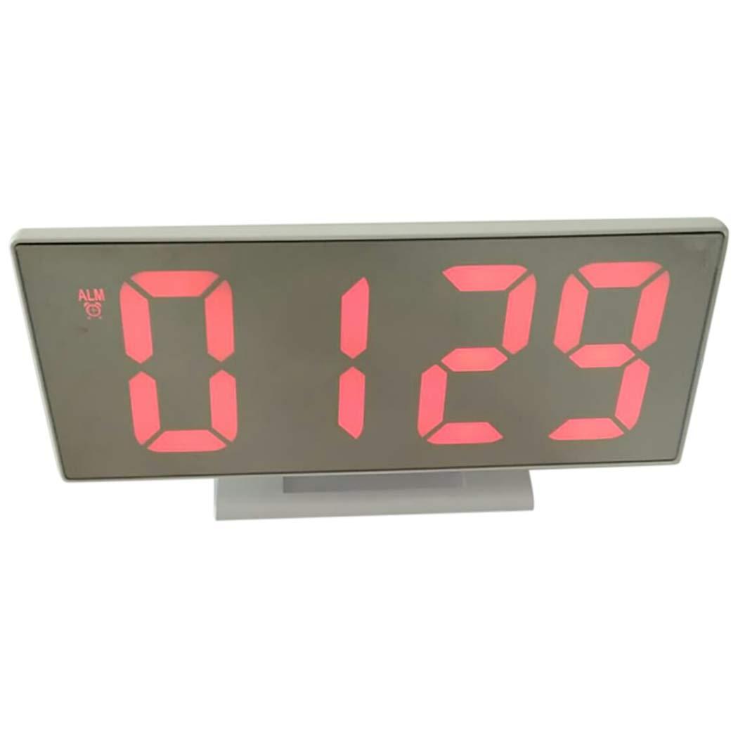 Justdolife Reloj LED De Escritorio Multiusos Reloj Digital para Oficina En Casa: Amazon.es: Hogar