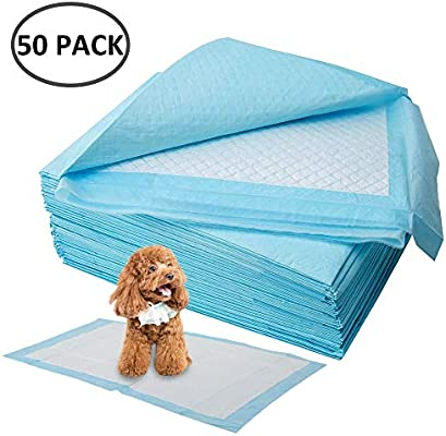 33 x 45 cm Blue 2 Pack Dog Pet Pee Mats Super Absorbing Waterproof Pet Training and Travel Pads Extra Large PUPOUSE Puppy Training Pad