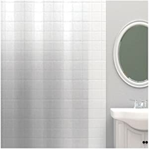 Zenna Home Pe71160c Zenna Home 71 In. H X 70 In. W Clear Solid Shower Curtain Liner Peva