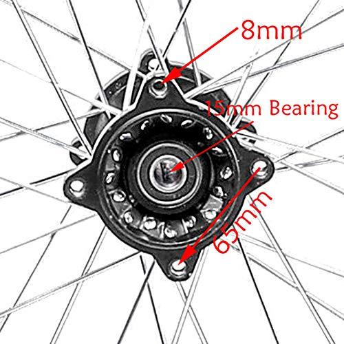 ZXTDR 90//100-14 Wheel Tire /& Rim Inner Tube With 15mm Bearing /& 190mm Rear Brake Disc Rotor /& 41T Sprocket for Dirt Pit Bike