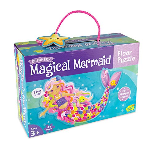 Peaceable Kingdom Shimmery Magical Mermaid Floor Puzzle