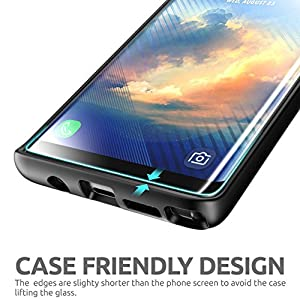 SUPCASE Galaxy Note 8 Screen Protector, Premium Edge-to-Edge Full Coverage Tempered Glass Screen Protector for Samsung Galaxy Note 8