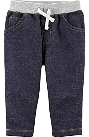 Carter's Baby Boys' Drawstring Pants - Blue - Newborn