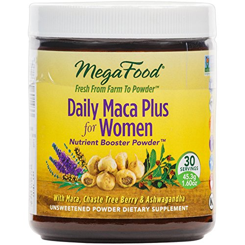 MegaFood - Daily Maca Plus for Women, Supports Immunity and Hormonal Balance with Chaste Tree Berry and Ashwagandha, Vegan, Gluten-Free, Non-GMO, 30 Servings (1.6 oz) (FFP) Chaste Tree Supplement