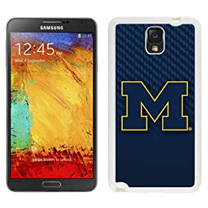 Beautiful And Popular Designed With Ncaa Big Ten Conference Football Michigan Wolverines 1 Protective Cell Phone Hardshell Cover Case For Samsung Galaxy Note 3 N900A N900V N900P N900T White